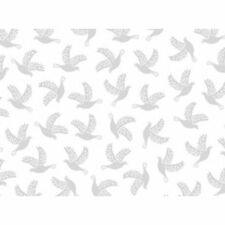 Quilting Something Old New Bird Dove White 100% cotton fabric by the yard