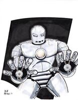 IRON MAN ORIGINAL ART SKETCH IRON MAN IN ORIGINAL ARMOR