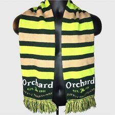 ORCHARD SUPPLY HARDWARE OSH Store Employee Striped Green Tan Fringe Scarf