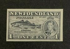 Newfoundland Stamp #233 Proof on Blue Wave Paper MNG
