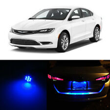 Blue LED License Number Plate Lights For CHRYSLER 200 2011-2015 2012 2013 2014