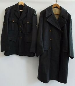 Vintage RAF Great Coat Size 6 With Size 9 Undercoat And Uniform Hat - T15