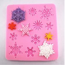 Christmas Snowflake Silicone Icing Mould Baking Cake Topping SugarCraft Fondant