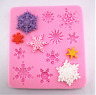 Xmas Snowflakes Silicone Icing Mould Baking Cake Topping Sugar Craft Fondant