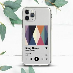 Custom Music Player Song Aesthetic Case For iPhone 7 8 X SE 11 12 13 Pro Max XR