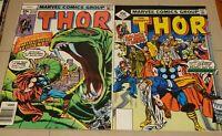 "THOR # 273 & 274 (1978) 1ST APP RED NORVELL= THOR II & ""DEATH"" BALDER RAGNAROK"
