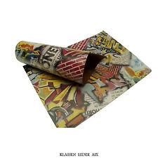 cuir de vachette Graffiti USED craquelé design 2,4 mm A3 buffle peau 190