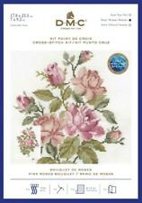 GENUINE DMC PINK ROSES BOUQUET COUNTED CROSS STITCH KIT - BK1894