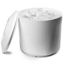 Redondo Cubo De Hielo Blanco 6 Pinta | Plástico Cubo De Hielo Cubo Refrigerador De Vino Con Tapa