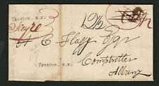 Truxton NY 1835 Straightline Handstamp 2 Strikes On Stampless Cover, Cortland Co
