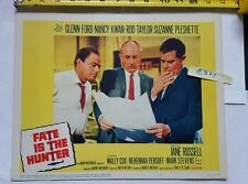 Glenn Ford Rod Taylor Fate Is the Hunter 1964 3 Lobby Movie Card