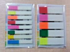 325 NEW TRANSP & COLOR FLAG REPOSITIONABLE STICKY NOTE MARKER INDEX TAB BOOKMARK