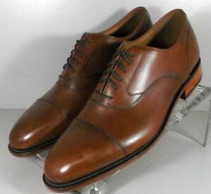 593010 SP50 Men's Shoes Size 9 M Brown Leather Lace Up Johnston & Murphy