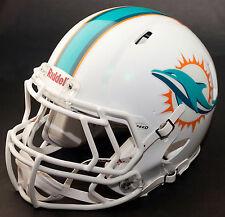 MIAMI DOLPHINS NFL Gameday REPLICA Football Helmet w/ S2EG Facemask