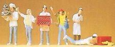 H0 Preiser 10377 An der Bäckerei. Figuren. OVP