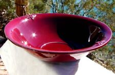 * OX BLOOD * WASH BASIN - BOWL 1940-50's AMERICAN / CALIFORNIAN Art POTTERY