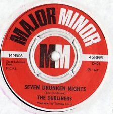 "The Dubliners - Seven Drunken Nights 7"" Single 1967"