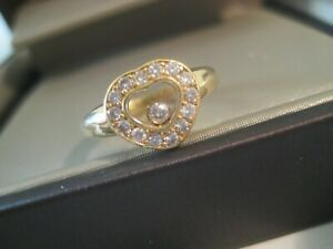 Chopard HAPPY DIAMONDS Herz-Ring mit Brillanten in 18K 750er Gelbgold