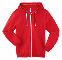 Fruit of The Loom Men's Super Soft Lightweight Cotton Full Zip Hooded Tee. SF60