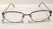 AUTHENTIC BVLGARI 218 169 53/17 130 RX Eyeglasses Optical Frames BLUE Italy