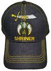 Shriners Baseball Cap Black Shriner Hat Sphinx Crescent Scimitar Masonic Mens