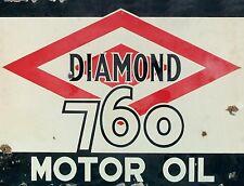 "TIN SIGN ""Diamond Motor""   Gas-Oil   Signs  Rustic Wall Decor"
