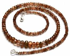 """Natural Gemstone Spanish Andalusite 3 to 7MM Faceted Rondelle Beads Necklace 20"""""""