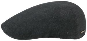 Stetson Flatcap Cap Madison Wool 3 Grey Anthracite New Trend