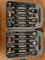 TOPINCN 10PCS 1//2drive Color-coded Torque Stick Limiter Extension Bar Set