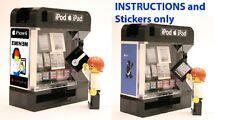 Custom Apple Vending Machine Instructions Stickers 4 LEGO Modular Building
