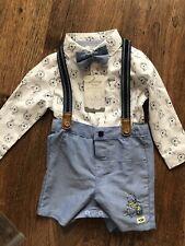 WINNIE THE POOH Formal Shirt Braces Set Disney Primark Baby 9-12Months