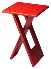 TABLES - VAUXHALL CONTEMPORARY FOLDING TABLE - RED - FREE SHIPPING*
