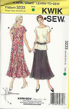 Kwik Sew K3233 Pattern Kwik Start Learn to Sew Misses Tops & Skirt XS-XL BN