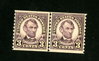 US Stamps # 600 VF-XF OG NH Line Pair Scott Value $60.00