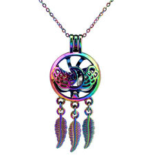 Star Moon Wing Charms RAINBOW Coloer Dream Catcher Stainless Steel Chain-C760