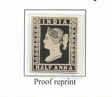 INDIA 1854 1/2a LITHOGRAPH STAMP PROOF IN BLACK - RARE