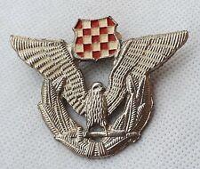 CRO ARMY, HOS Paramilitary unit 1991. beret cap badge, Ustasha, Ndh badge !