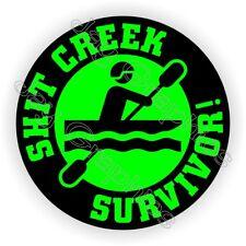 Sh*t Creek Survivor Funny Hard Hat Sticker | Motorcycle Helmet Decal Survival