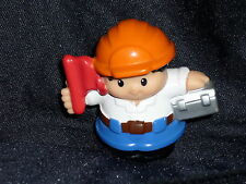 Fisher Price Little People Hispanic Construction Boy Dad Man Lunchbox Flag