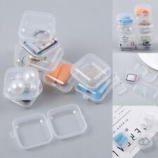 20PCS Mini Plastic Small Box Hook Clear Jewelry Earing Earplug Container Storage