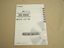 Toshiba SD-4800 DVD Owner/User Manual
