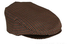 NEW PRADA LUXURY WATERPROOF HOUNDSTOOTH PRINT BROWN CABBIE NEWSBOY HAT CAP XL