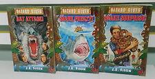 HAZARD RIVER KIDS BOOKS LOT OF 3 BY J E FISON SHARK FRENZY BAT ATTACK SNAKE SUR