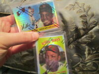 1996 TOPPS FINEST LOT OF 2 WILLIE MAYS REFRACTORS