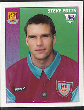 Merlin Football Sticker- 1997 Premier League - No 494 - West Ham Utd - Potts