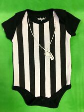 B109 NFL NCAA Referee Outfit Baby-Grow Newborn 0-3 months Cute!