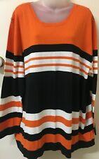 MY SIZE Orange/Black/White, Long Sleeve, Light Jumper -L- Exc Con