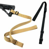 Adjustable Gun Sling Strap 2 Point Tactical Rifle Sling Hunting Outdoor Tool