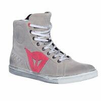 Dainese Women's Street Biker Air Shoes Light Grey/Coral Size 36 EU / 4.5 US