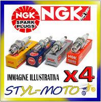 KIT 4 CANDELE NGK SPARK PLUG BKR5EK OPEL Agila 16V 1.2 55 kW Z12XE 2000